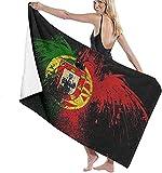 Toallas de playa, bandera de Portugal, toalla de baño altamente absorbente para baño, hotel, gimnasio, spa, viaje, 132 x 81 cm