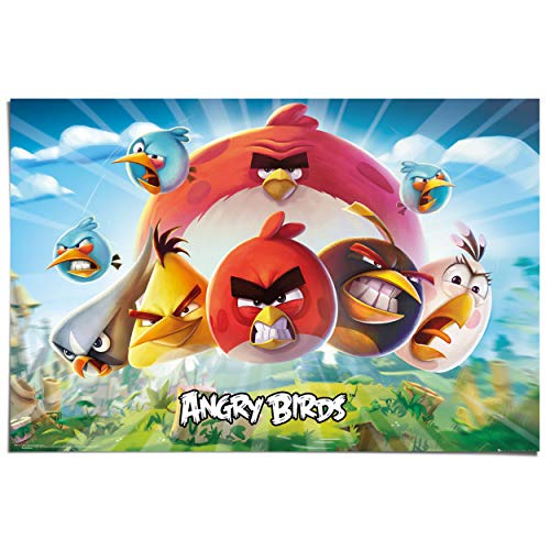 Maxi Poster Angry Birds - keyart - 91 x 61 cm Kinderkamer