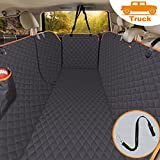 iBuddy Dog Truck Seat Covers 100% Waterproof, Dog Seat Cover for Trucks with Side Flaps from Scratching, Pet Seat Cover for Back Seat of Truck/Large SUV Machine Washable