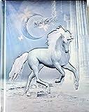 Cuaderno / Diario Unicornio con letras 'Magic', color azul metálico y plata, en relieve noble - ¡Edición limitada!