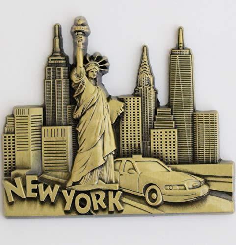 Stylischer Metall-Magnet für den Kühlschrank, Küchen-Magnet, einzigartiges Design, Heimdeko, Urlaubs-Souvenir, Geschenk aus Paris, Venedig, Rom, Prag, Barcelona, Amsterdam, New York, Dubai, Thailand, new york