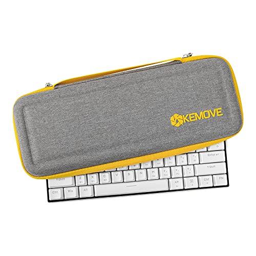 KEMOVE X DIERYA Keyboard Travel Case, Hard EVA Sleeve Carrying Cover Bag for 60% 65% Wired/Wireless Bluetooth Mechanical Gaming Keyboard (14.2'' X 5.7'' X 2'')