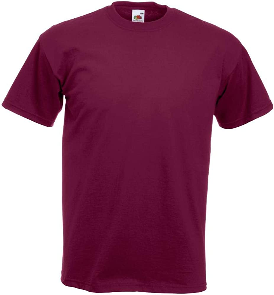 Fruit Of The Loom - Camiseta Básica de manga corta modelo VALUEWEIGHT - Hombres
