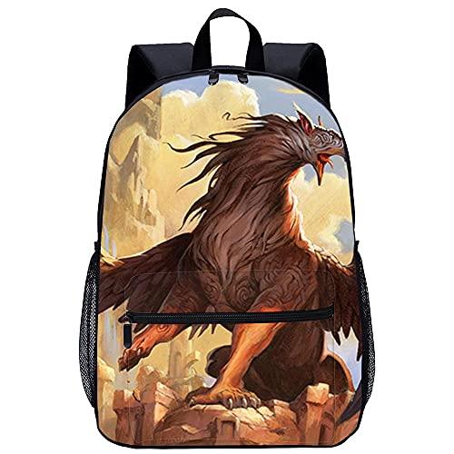 Mochila Infantil con 3D mochila escolar -Grifo-Adecuado para: estudiantes de primaria y secundaria, la mejor opción para viajes al aire libre-Tamaño: 45x30x15 cm / 17 pulgadas-Mochila Para niños