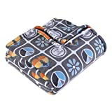 Berkshire Blanket & Life is Good PrimaLite Super Soft Cozy Warm Luxury Plush Throw, Elements, 60' x 70'