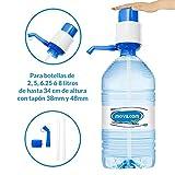 MovilCom - Dispensador Agua para garrafas | Dosificador Agua garrafas Compatible con Botellas (Pet) de 2,5, 3, 5, 6, 8 y 10 litros | para Botellas con el tapón diámetro 38mm y 48mm