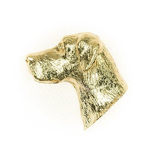 Alano Made in UK, Collezione Distintivo Spilla Artistici Stile Cani (con la placcatura d'oro 22 carati)