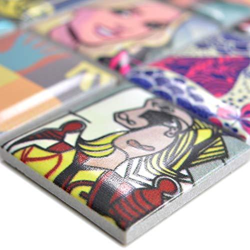 Preisvergleich Produktbild Keramik Mosaikfliesen Achilles Popartoptik Bunt Duo / Wandverkleidung Badfliesen Bad Mosaikstein Natursteinfliesen Fußbodenfliesen Dekorative Fliesen Dekor