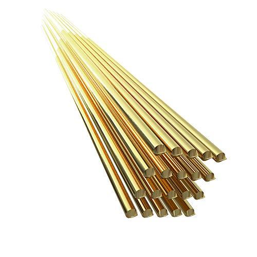 Festnight 20pcs ottone saldatura filo elettrodo 1.6mm * 333mm saldatura rod senza bisogno di saldatura a polvere