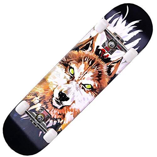 AZZ Skateboards for Anfänger, 31x 8-Zoll-Geburtstags-Geschenk for Erwachsene Kinder-Jungen-Mädchen-Skateboard 5 bis Jahre alt (Höchstgewicht 150 kg) (Color : Pattern 2)
