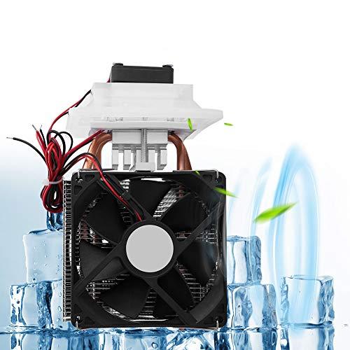 【𝐒𝐞𝐦𝐚𝐧𝐚 𝐒𝐚𝐧𝐭𝐚】 Dispositivo de enfriamiento de refrigeración de semiconductores, sistema de deshumidificación de enfriamiento de aire termoeléctrico de 12V con ventilador de enfriamiento