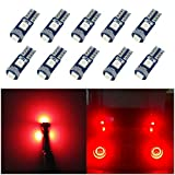 WLJH 10 unids Rojo T5 Bombillas LED 1.5 W 3030 Chips LED Ojos de Angel Faro de la Linterna...