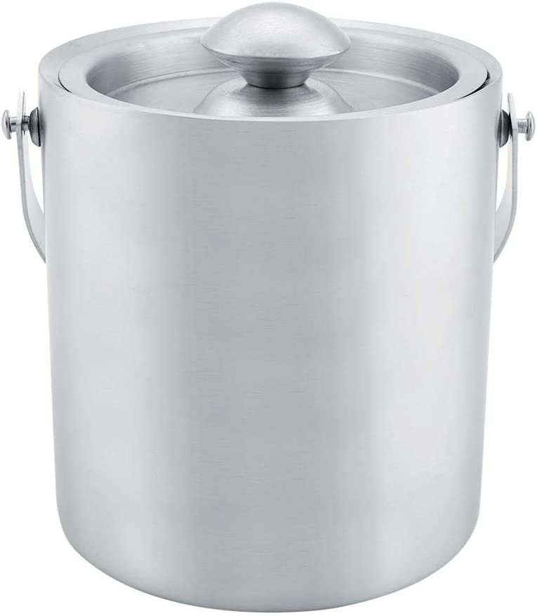Yosoo Stainless New popularity Steel Insulated Double Bucket Max 58% OFF Walled with Co Ice
