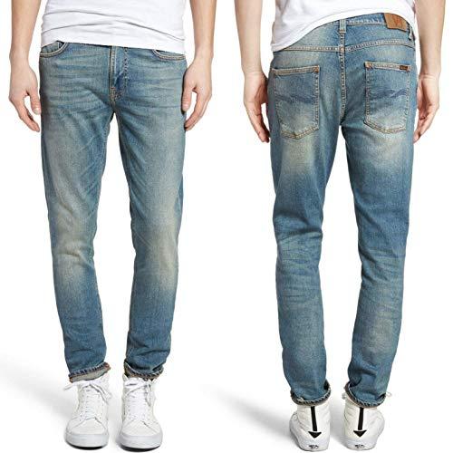 Nudie Jeans Herren Lean Dean Silver Lake - Blau - 28W / 32L