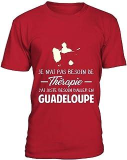 TEEZILY Sweat /à Capuche Guadeloupe Antilles Pas Besoin de th/érapie Unisex
