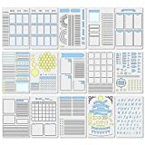 15Pcs Journal Stencils Set - Time Saving Planner Accessories Creating Layouts Easily