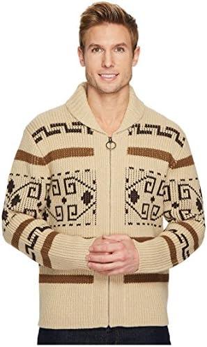 Pendleton Men s The Original Westerley Zip Up Cardigan Sweater Tan Brown Large product image