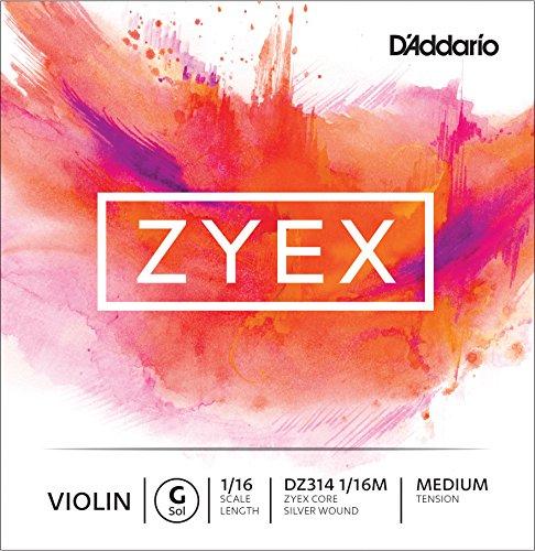 D 'Addario Zyex enkele G-snaar voor viool Gemiddelde spanning 1/16 Scale