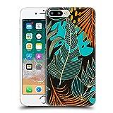 Head Case Designs Oficial Haroulita Orange Hojas 2 Carcasa rígida Compatible con Apple iPhone 7 Plus/iPhone 8 Plus