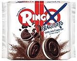 Pavesi Ringo Sbagliato, Biscotti al Cacao Farciti con Crema alla Vaniglia per Colazione o Gustoso Snack, Senza Olio di Palma - Confezione 165 gr