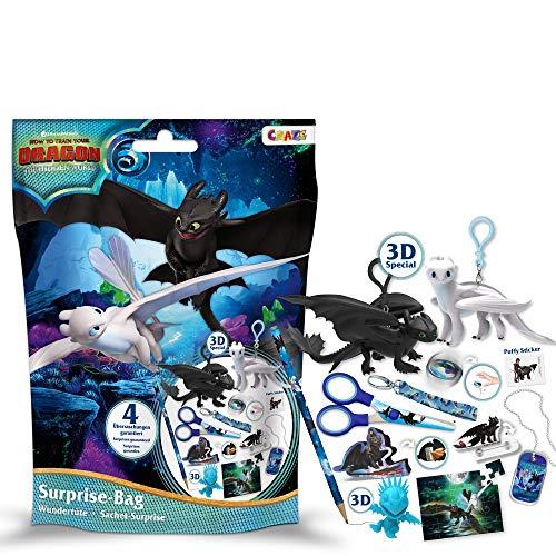 CRAZE Surprise Bag Dragons 3 Wunderüte Drachenzähmen Zubehör 4 Teile 23198