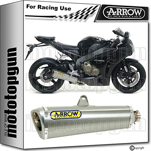 ARROW TUBO DE ESCAPE RACE TROPHY CON FONDO INOX EN TITANIO COMPATIBLE CON HONDA CBR 1000 RR 2008 08 2009 09 2010 10 2011 11 71147PR