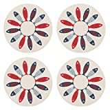 Now Designs 1035008aa Round Braided Cotton Placemats, Set of Four, Little Fish
