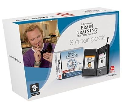 Nintendo DS Lite Black Console with Brain Training (Nintendo DS)