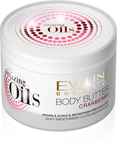 Amazing Oils Cranberry Body Butter Cream for Dry and Dehydrated or Irritated Skin with Cranberry Extract and Argan Oil