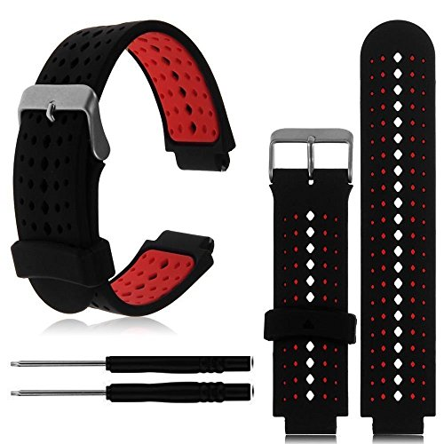 XZZTX Compatible avec pour Bracelet Garmin Forerunner 235, Bracelet en Silicone Souple, Bracelet de Montre Compatible Compatible Garmin Forerunner 235/220/230/620/630 / 735XT