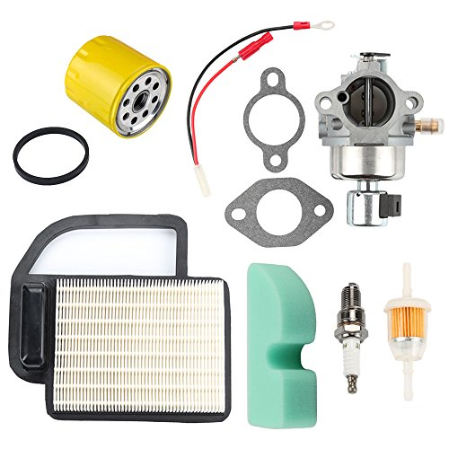 Powtol 20 853 33-S Carburetor with 20 083 02-S Air Filter Oil Filter for Kohler SV Courage SV470 SV480 SV530 SV540 SV541 SV590 SV591 SV600 SV601 SV610 SV620 Engine