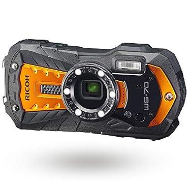 Ricoh WG-70 All-Weather Adventure Digital Camera (Orange)