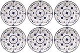 Johnson Bros - Juego de 6 platos (18 cm), color azul