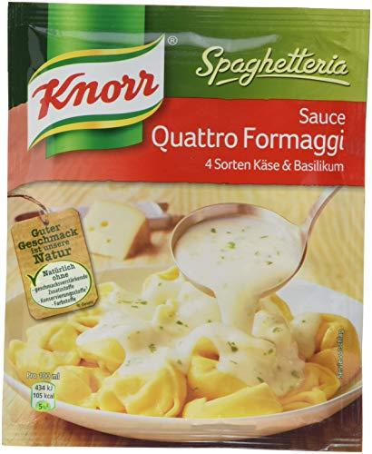 Knorr Spaghetteria Sauce Quattro Formaggi 4 Sorten Käse und Basilikum (1 x 250 ml)