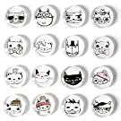 (Update) Cosylove 16pcs Cute Cat Refrigerator Magnets, Crystal Glass Fridge Magnets for Office Cabinets, Whiteboards, Photos, Decorative Magnets