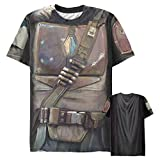 Men's Star Wars The Mandalorian Rusted Armor Costume All-Over T-Shirt - Multi-Color - 2X Large