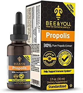BEE&YOU Propolis 30% Pure Liquid Extract - Ultra Potency - Zero Sugar - Zero Calorie - Supports Healthy Immune System - So...