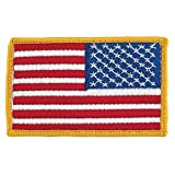 US Flag Store PTUSAR American Flag (Right Hand Version) Patch, Red, White, Blue, Gold
