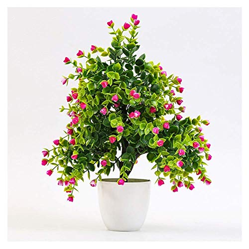 Artificial Plants Fake Flowers Bonsai Leaves Plastic Indoor Plants Décor Faux Greenery Shrubs Bush for Home Kitchen Garden Party Décor,B