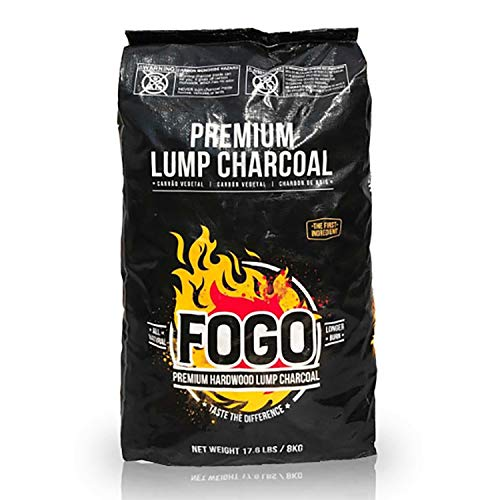 FOGO Premium Oak Restaurant All-Natural Hardwood Lump Charcoal for Grilling and Smoking , 17.6 Pounds
