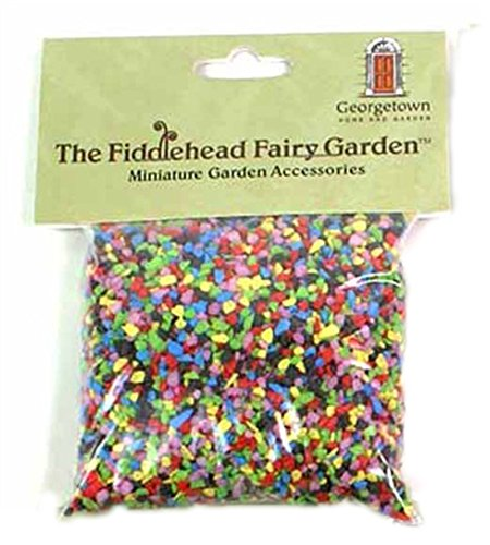 Fiddlehead Fairy Garden Gravel Decorative Stones Fairies Building Supplies (Rainbow Mix)