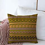 Throw Pillow Covers Fantasy Adornment Patterns Form Flowers Abstract Style Arab Arabesque Asia Asian Branch Design Grunge Cushion Square Case Linen Cases for Winter Couch Decor 16' x 16'