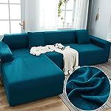 Fundas para Sofa Índigo Cubre Sofa Spandex Estampadas Fundas Sofa Elasticas Universal Espesasfunda Sillon Verano Modernas Fundas para Sofa Chaise Longue 4 Plazas