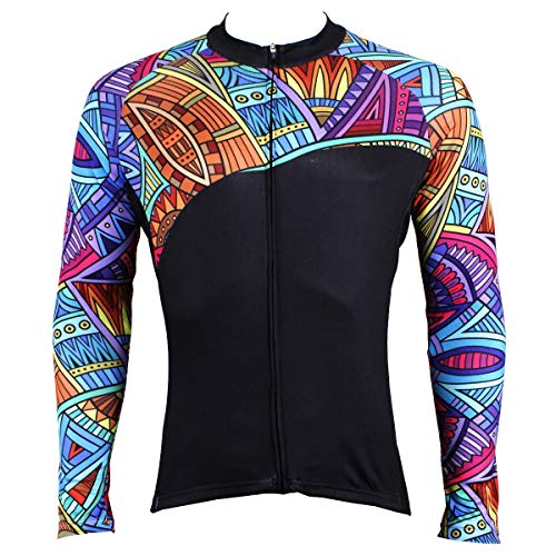 Zhang New Jersey à Manches Longues Costume Homme Printemps et Automne Mountain Bike Riding Costume Femme 14 (Color : Multi-Colored, Size : L)