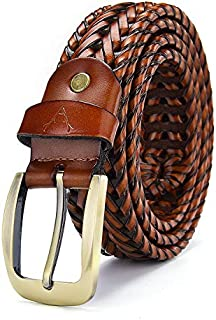 VOGARD Men's Leather Braided Belt