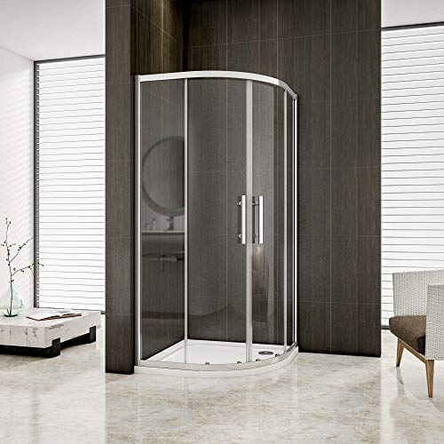 Mamparas de ducha Semicircular Puerta Corredera 6mm 90x90x195cm