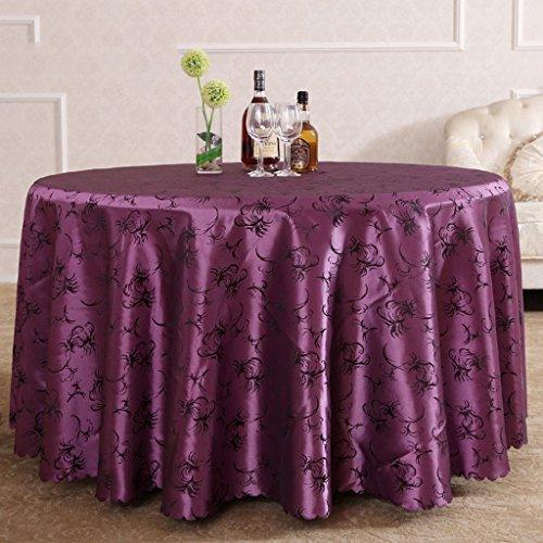 Nappes Nappe ronde, Nourriture occidentale rurale Nappe Restaurant Salle d'exposition Nappe de réunion Salon de la maison Nappe violet ( Couleur : Violet , taille : Round-300cm )