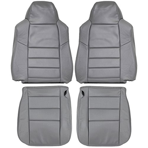 2002-2007 F250 F350 Lariat Genuine Leather Seats Cover Custom Made (Front) Dove Grey