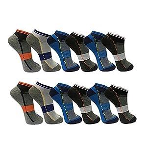 BestBuy-Shop – 12 pares de calcetines cortos de hombre para deporte y ocio, alto porcentaje de algodón, diseñados en Alemania, tallas 39-42 y 43-46