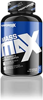 Performax Labs MassMax Natural Anabolic & Androgenic Complex | Increase Muscle Mass & Size | Testosterone Booster | Improv...